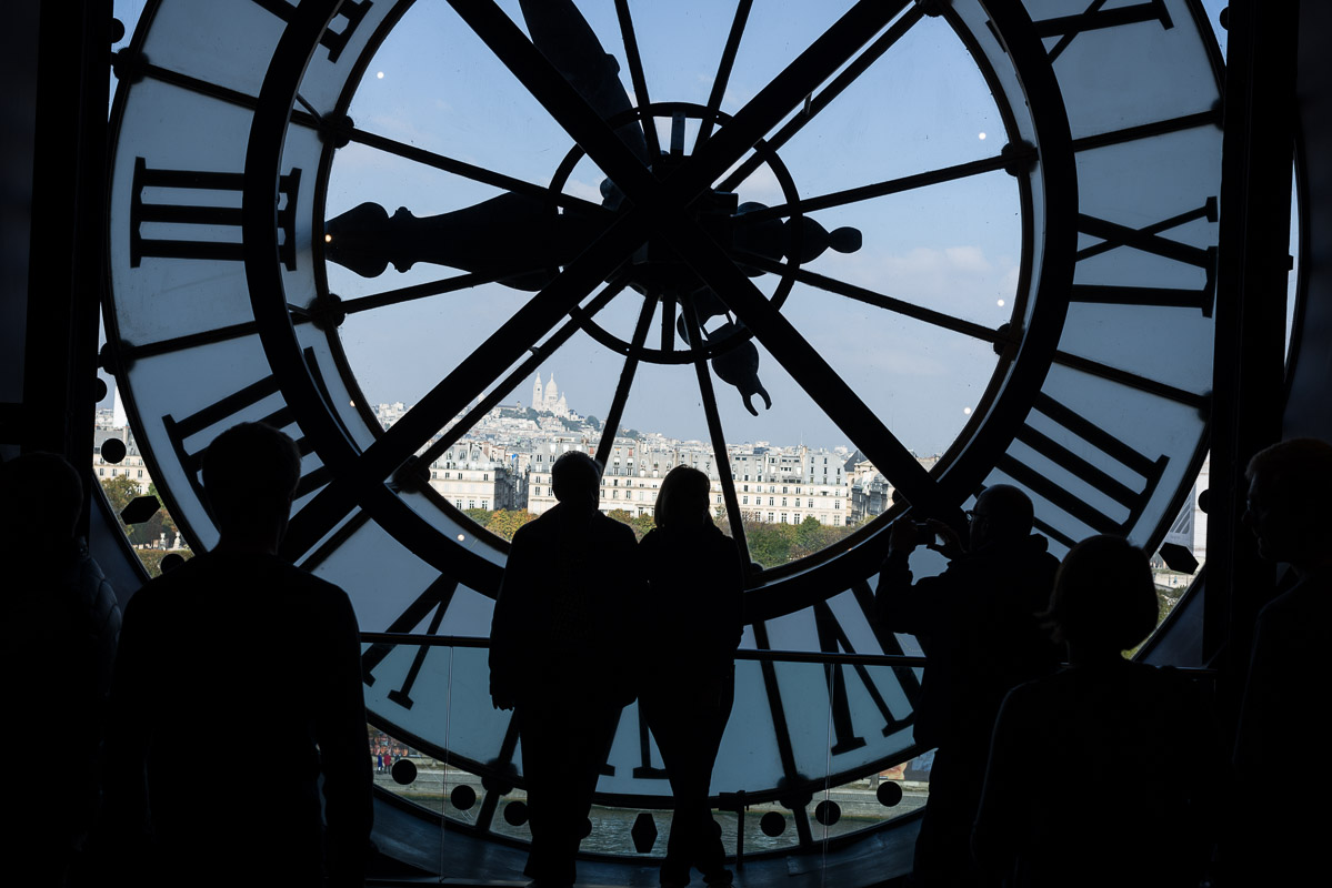 Behind the clock at the Musée D'Orsay, Paris