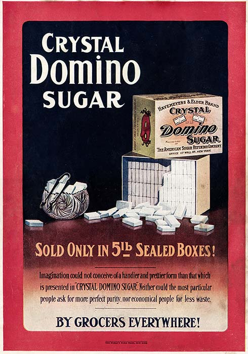 1907 Crystal Domino Sugar ad.