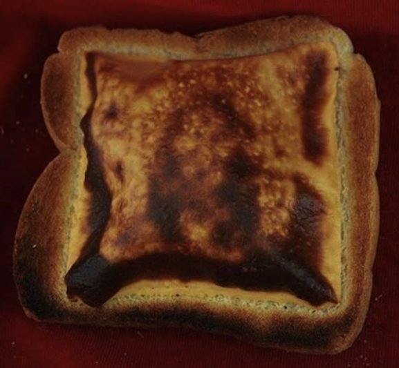 Face of Jesus on toast