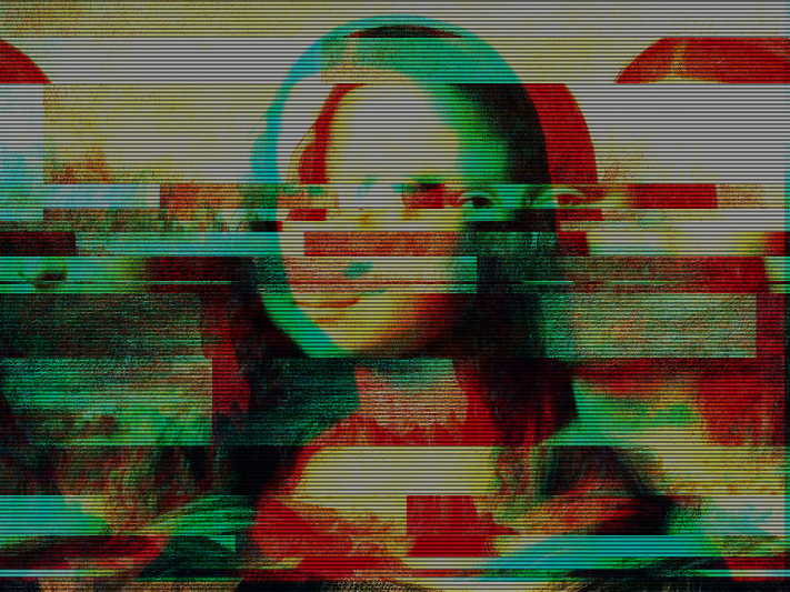 Glitch Mona Lisa