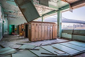Packaging House Lockers. Brooklyn's Sweet Ruin: Relics and Stories of the Domino Sugar Refinery. Industrial ruin photograph by Paul Raphaelson.